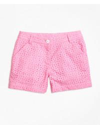 Brooks Brothers Cotton Eyelet Shorts