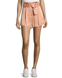 A.L.C. Deliah High Waist Sateen Shorts Pink