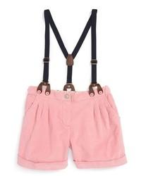 Girls Mini Boden The Everyday Suspender Shorts