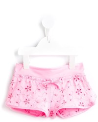 Mc2 Saint Barth Kids Floral Embroidered Shorts