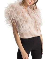 BUBISH LUXE Bubish Berlin Ostrich Feather Bolero