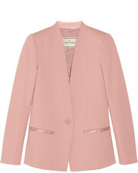 By Malene Birger Brinda Satin Trimmed Stretch Jersey Blazer
