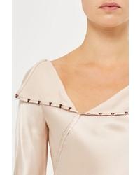 Unique Inspiral Silk Blouse