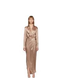 alexanderwang.t Pink Silk Twist Long Dress