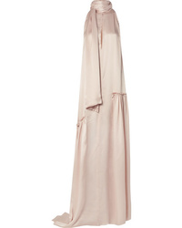 Ann Demeulemeester Ruched Silk Satin Gown