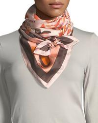 Fendi Butterfly Silk Foulard Scarf