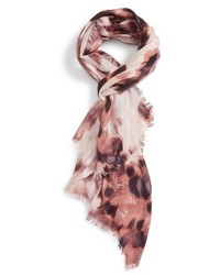 Feathered cat cashmere silk scarf medium 1162104