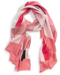 Kate Spade New York Colorblock Oblong Silk Scarf