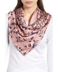 kate spade new york Prairie Rose Patchwork Silk Square Scarf