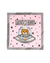 Moschino Space Bear Silk Square Scarf
