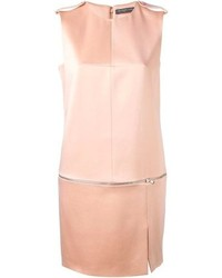 Alexander McQueen Zip Detailed Shift Dress