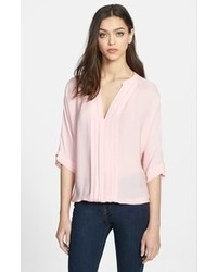 Joie Marru Silk Blouse Picnic Pink Small