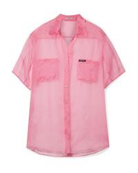 Miu Miu Oversized Silk Organza Shirt