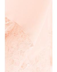 ... Hanro Ginevra Leavers Lace Trimmed Silk Crepe De Chine Pajama Shorts  Pastel Pink ... 865161ffd
