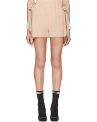 Fendi Pink Scalloped Shorts