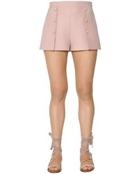 Valentino Wool Silk Crepe Shorts
