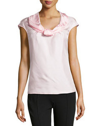 Pink Silk Sleeveless Top