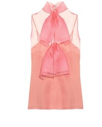 Gucci Silk Organza Bow Detail Top