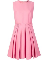 Alexander mcqueen pleated skirt skater dress medium 879610