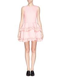 J Brand X Simone Rocha Ruffle Tier Cotton Twill Dress