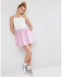 Mini skater skirt in cotton poplin with pockets medium 4420991