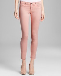 AG Adriano Goldschmied Jeans Legging Ankle Zip In Pink Haze