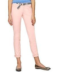 jcpenney Bebop Belted Roll Cuff Skinny Pants
