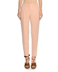 No 21 mid rise skinny leg crepe trousers medium 4983524