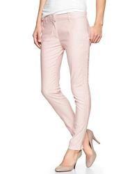 Gap Skinny Mini Stripe Khakis