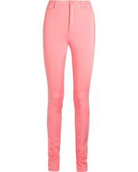 Stretch satin skinny pants pink medium 3700916
