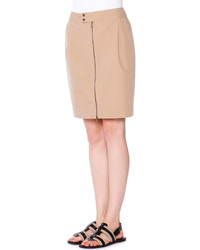Tomas Maier Tech Canvas Zip Front Skirt Chino