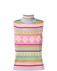 Moschino Sleeveless Intarsia Jumper