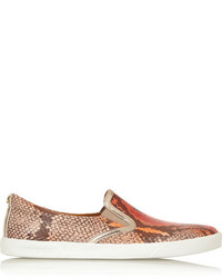 Demi snake effect leather slip on sneakers medium 159548
