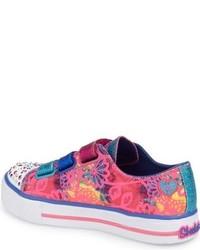 Skechers Girls Twinkle Toes Shuffles Sneaker