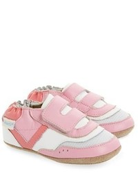 Robeez Infant Girls Sporty Steph Sneaker Crib Shoe Size 3 6 Months Pink