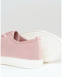 7243cb37a4 Asos Lace Up Sneakers In Pink Mesh, $32 | Asos | Lookastic.com