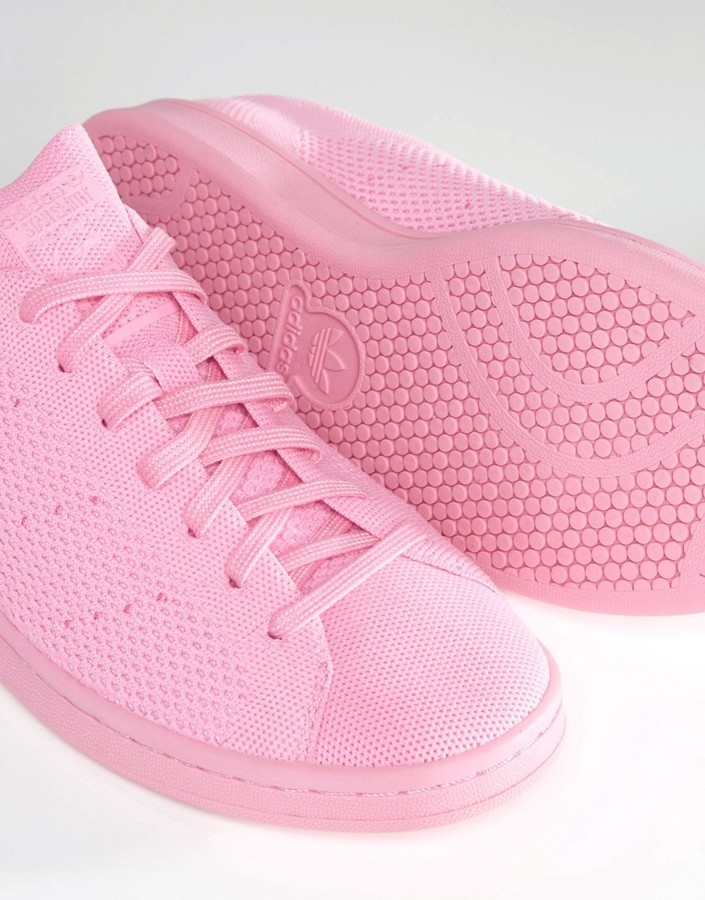 the latest 518a6 eb781 Originals Stan Smith Primeknit Sneakers In Pink S80064