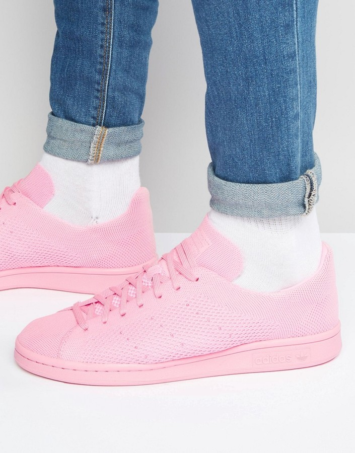 ... adidas Originals Stan Smith Primeknit Sneakers In Pink S80064 ...