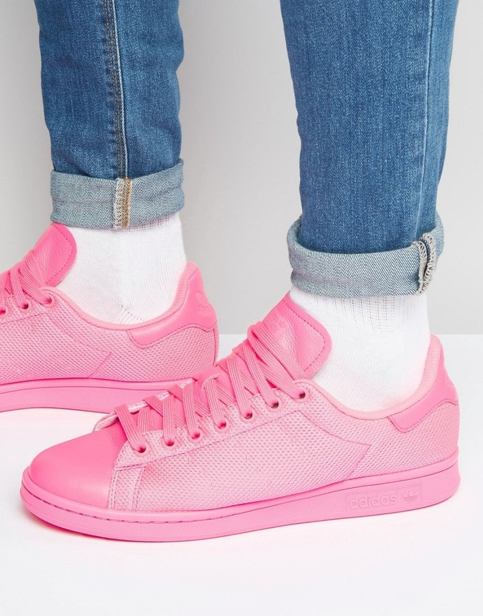a5c46e137b2 ... adidas Originals Stan Smith Sneakers In Pink Bb4997 ...