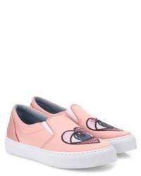 Chiara Ferragni Satin Heart Eye Skate Sneakers
