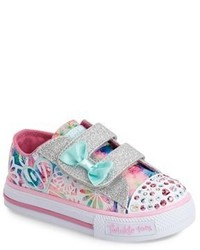 Skechers Shuffles Baby Love Light Up Low Top Sneaker