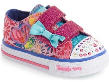 Skechers Toddler Girls Twinkle Toes Shuffles Light Up Sneaker