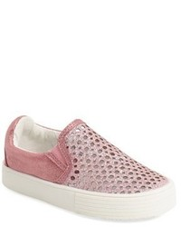 Stuart Weitzman Toddler Girls Vance Slip On Sneaker Size 10 M Pink