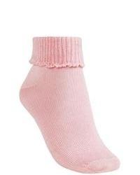 B.ella Scallop Cuff Ankle Socks Mercerized Pima Cotton Light Pink