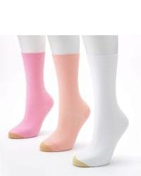 Gold Toe Goldtoe 3 Pk Non Binding Crew Socks