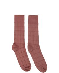Issey Miyake Men Pink Block Socks