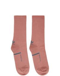 Oamc Red Adidas Originals Edition Logo Socks