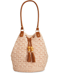 Crochet tassel bucket bag medium 247446
