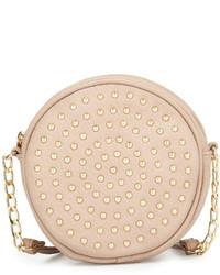 Neiman Marcus Studded Canteen Crossbody Bag Blush Pink
