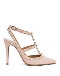 Valentino Pink Garavani Cage Heels